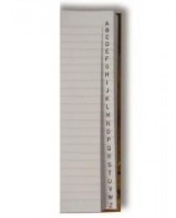 Kniha zázn.A5 linka index
