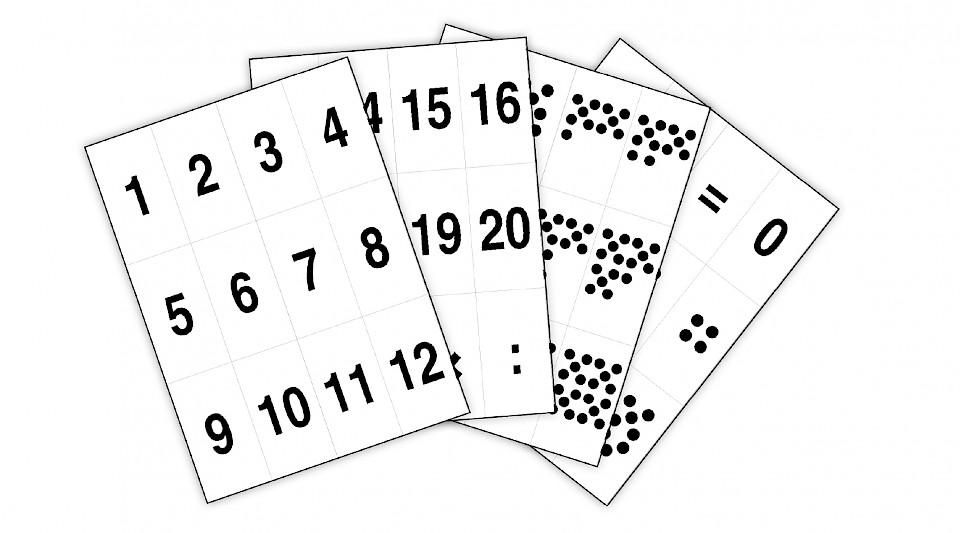 Číslice - sada tisků číslic