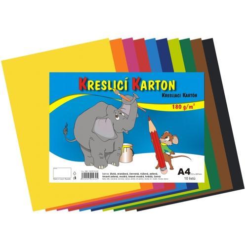 Karton kreslící A3/60/180 mix 12 barev