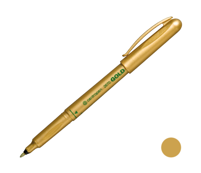 Popisovač 2670/zlatý,stříbrný
