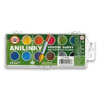 Barvy vodové anilinové 22mm 12 b.KIN