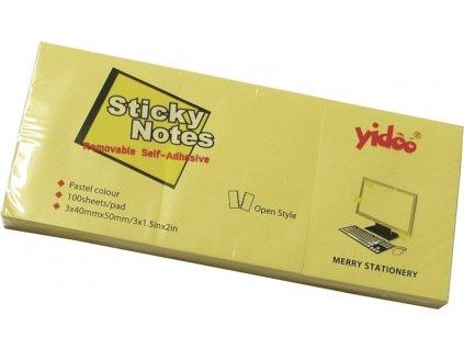 Lepící bločky 50x40/3x100l žluté