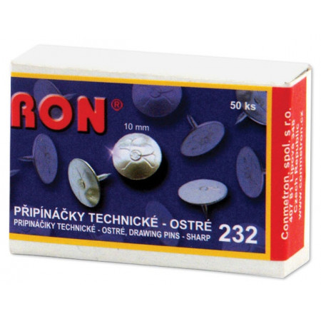 Připínačky technické 232 Ron 10 mm/50 ks