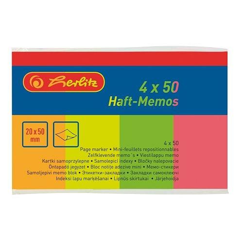 Lepící bločky 50x20x4/50l neon No.790642